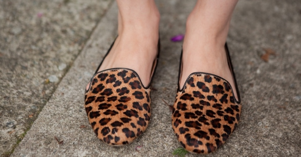 Detalhe mostra as sapatilhas Lu Camargo de Karen Heleno (19/01/2013)