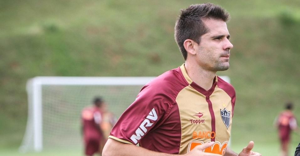 Goleiro Victor durante treino do Atlético-MG na Cidade do Galo