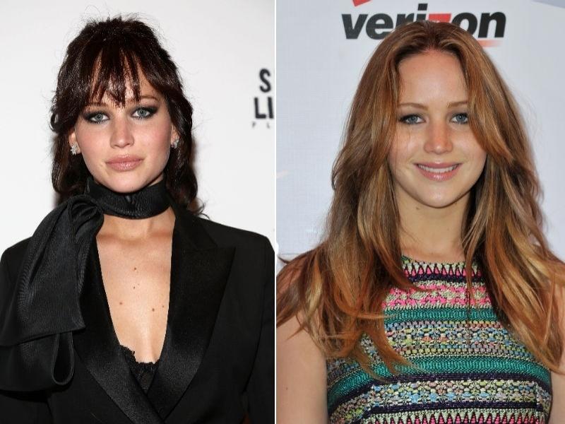 Jennifer Lawrence menos morena loiro escuro
