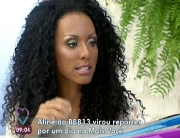 22.jan.2013 - Aline fez matéria sobre o Forró de Maria Cecília, no Rio, para o programa