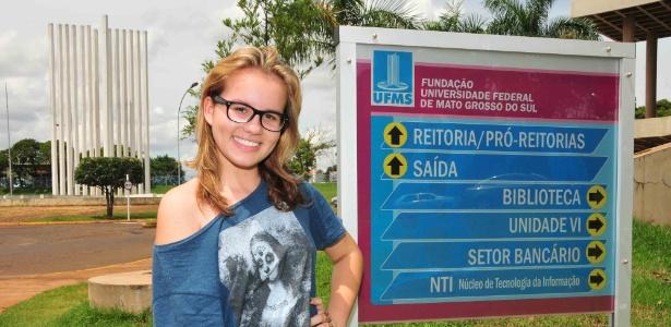 Aos 14 anos, Nathaly Gomes Tenório é a mais jovem estudante da UFMS