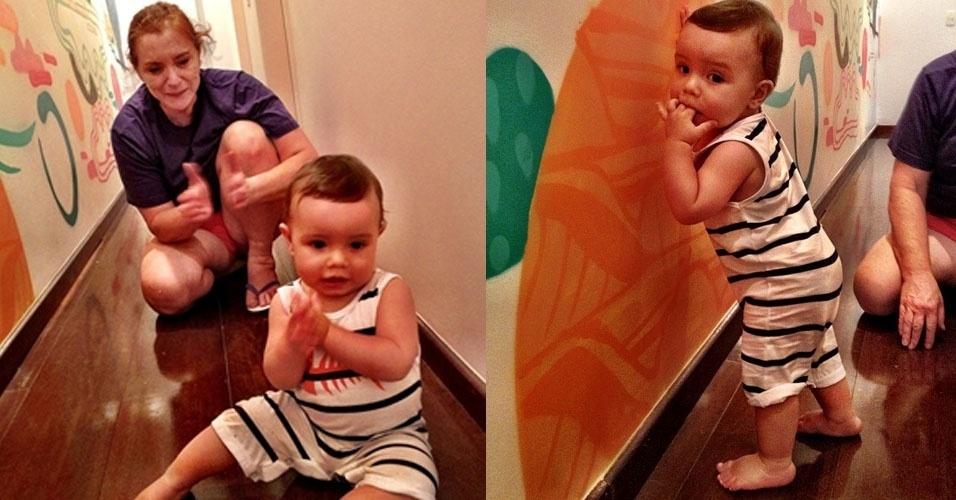 23.jan.2013 - O surfista Pedro Scooby postou no Instagram fotos do seu filho com Luana Piovani, Dom