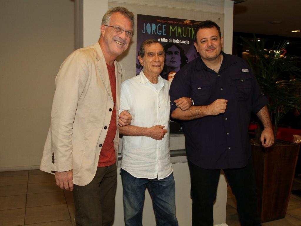 23.jan.2013 - Pedro Bial, Jorge Mautner e Heitor D'Alincout apresentam