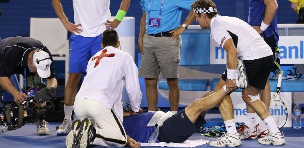 Djokovic fingiu ser médico em partida do torneio de lendas do tênis na Austrália
