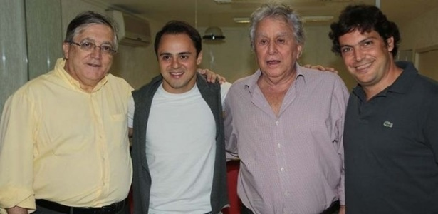 Dirigentes também deram atenção ao piloto da Ferrari no vestiário do São Paulo