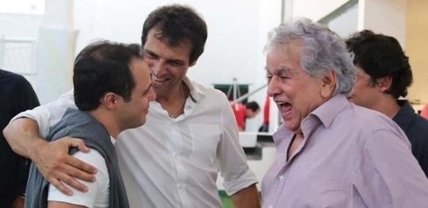 Juvenal Juvêncio se divertiu durante a conversa com Felipe Massa