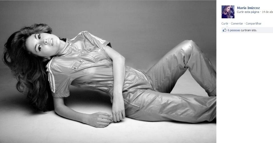 Modelo, María-Imízcoz aproveita que está na Alemanha com Javi Martinez para realizar ensaios no país