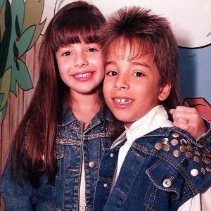 Sandy e o irmão Junior na época em que começaram a carreira (1992)