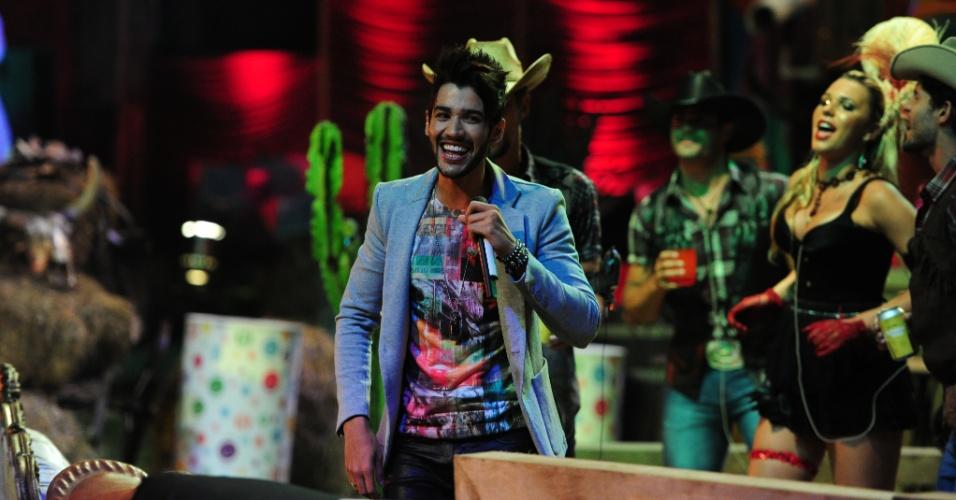 26.jan.2013 - Gusttavo Lima faz show no