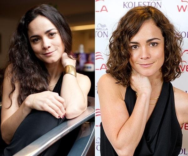 Janeiro: A atriz Alice Braga cortou seus longos cabelos cacheados para viver uma profissional da moda no filme