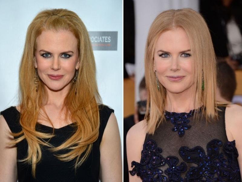 Nicole Kidman cabelo curto e loiro