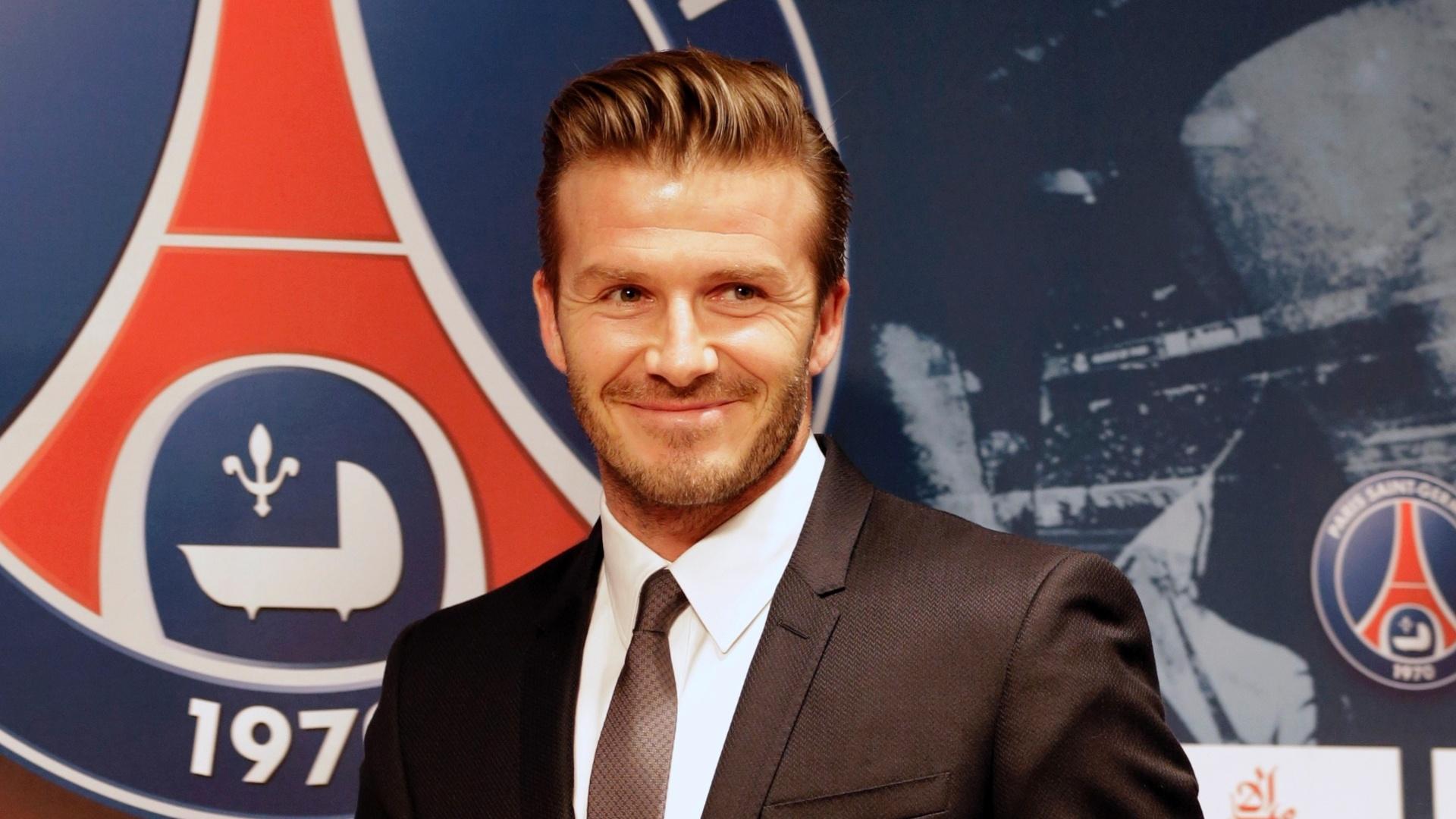 31.jan.2013 - David Beckham foi apresentado como o novo reforço do PSG