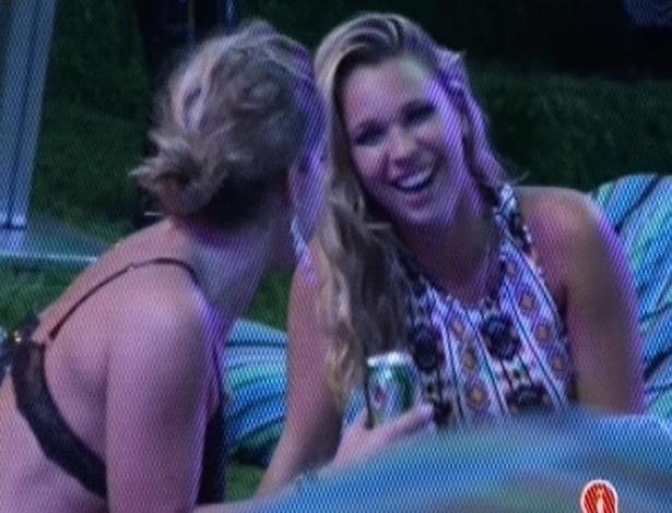 31.jan.2013 - Fani e Marien fizeram um balanço da festa Hipnose