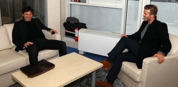 David Beckham no PSG e Leonardo