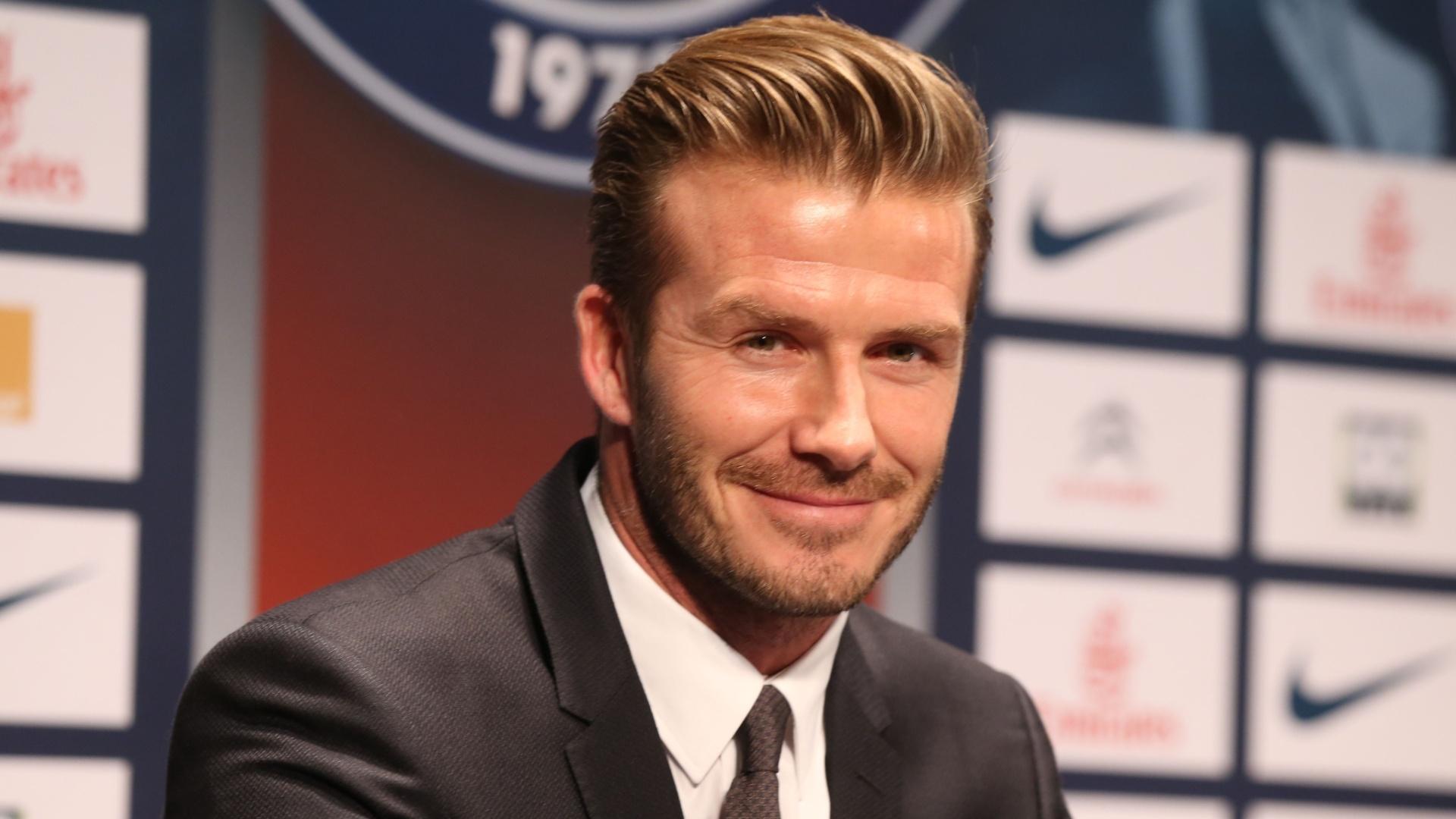 Me sinto honrado por estar em um dos melhores clubes do mundo, disse Beckham ao acertar com o PSG