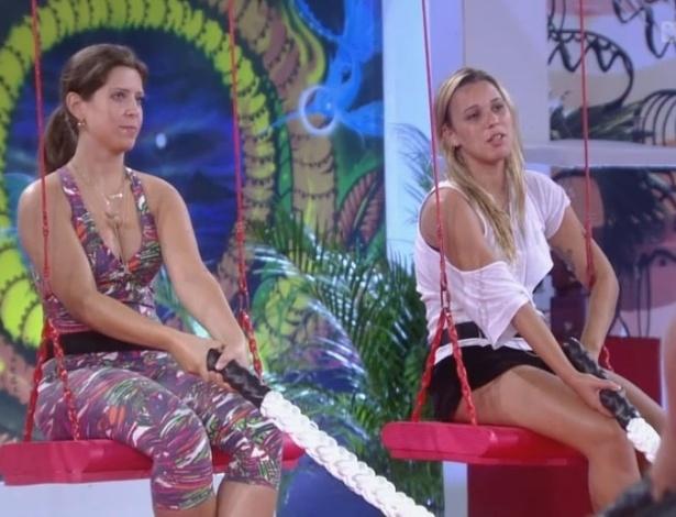 01.fev.2013 - Andressa e Marien participam da terceira prova do líder do
