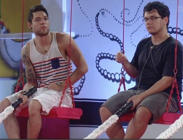 01.fev.2013 - Nasser e Ivan participam da terceira prova do líder do
