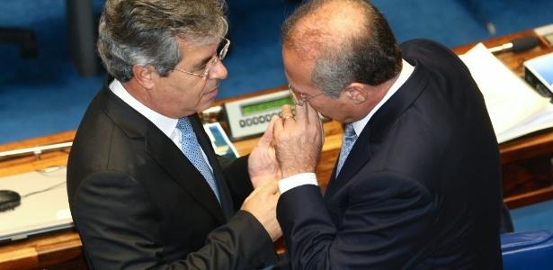 Senadores Jorge Viana (PT-AC) e Renan Calheiros (PMDB-AL) no Senado: times de futebol pedem ajuda
