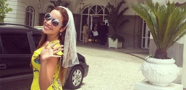 31.jan.2013 - A noiva Renata Dominguez postou na rede social Instagram sua