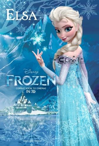 """A personagem Elza, da nova animação da Pixar, """"Frozen: Reino de Gelo"""""""