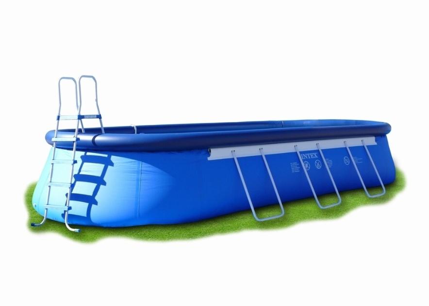 Essa piscina com armação de aço galvanizado tem capacidade para 20.465 litros e é fabricada em PVC pneumático de alta resistência. O produto da Intex inclui filtro e uma bomba para enchimento. Não acompanha escada. À venda no Submarino (www.submarino.com.br) por R$ 2.203,05 (+ frete)