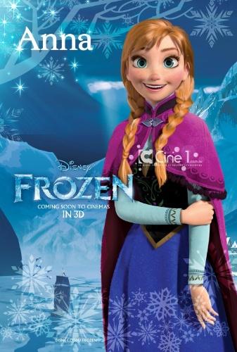 """Personagem Anna, da nova animação da Pixar, """"Frozen: O Reino do Gelo"""""""
