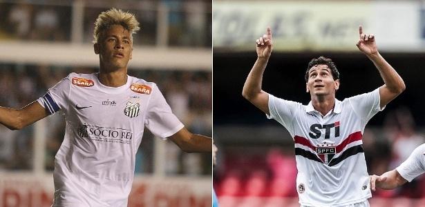 Neymar marcou 10 gols em decisões pelo Santos, mas Ganso vence em assistências