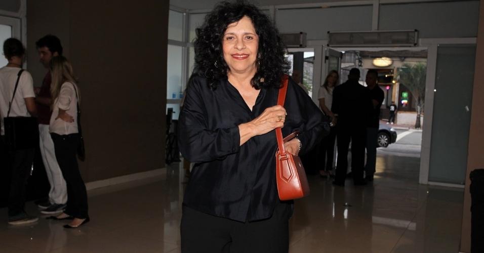 3.fev.2013 - Gal Costa vai ao show de Baby do Brasil no HSBC Brasil, em São Paulo