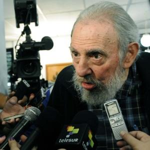 O ex-presidente cubano Fidel Castro durante entrevista em fevereiro deste ano