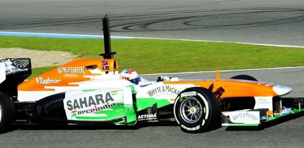 05.fev.2013 - Paul di Resta, da Force India, foi o mais rápido da manhã de testes coletivos em Jerez de la Frontera