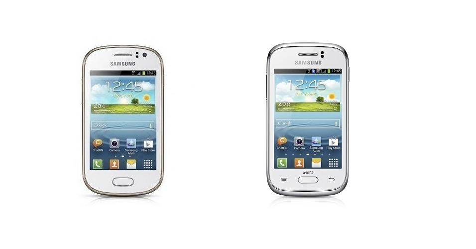 5.fev.2013 - A Samsung anunciou mais dois smartphones para a vasta família Galaxy. Os aparelhos são chamados de Galaxy Fame (à esquerda) e Galaxy Fame (à direita). Esses aparelhos foram desenvolvidos com foco no público jovem, que joga diversos games e reproduz grande quantidade de músicas e vídeos. O Young possui processador de 1GHz, 768MB de RAM, tela de 3 polegadas, câmera traseira de 3 megapixels e 4GB de armazenamento interno. A versão Fame vem com tela de 3 polegadas, processador de 1GHz e memória RAM de 512 MB. Ambos saem de fábrica com Android 4.1