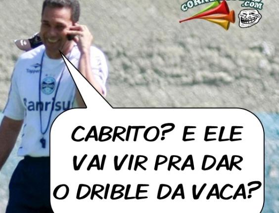 Corneta FC: Luxa já tinha planos para Cabrito no Grêmio