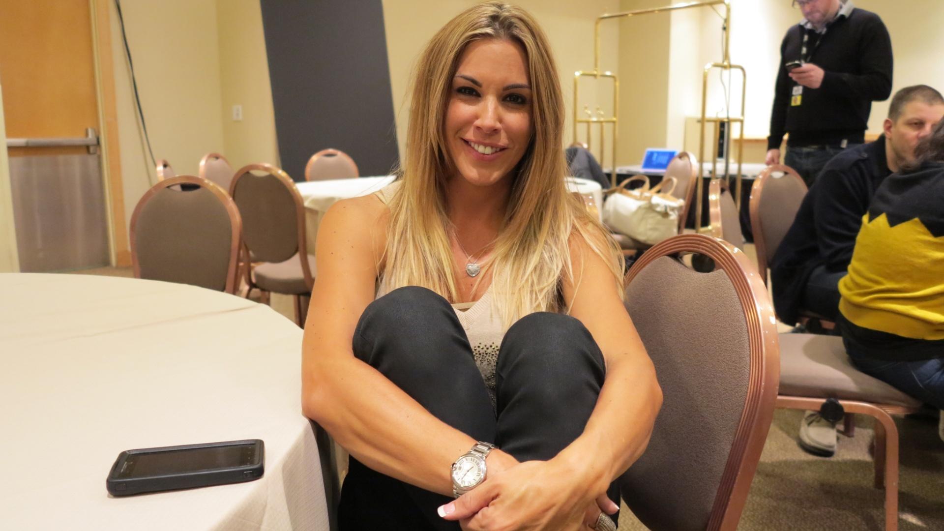 Joana Prado, mulher do lutador Vitor Belfort