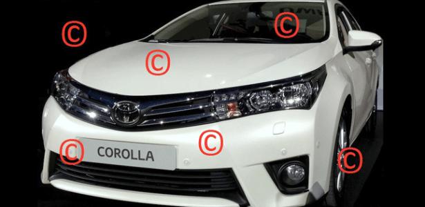 Suposto Toyota Corolla 2014 em foto publicada pelo blog Carscoop, especialista em segredos