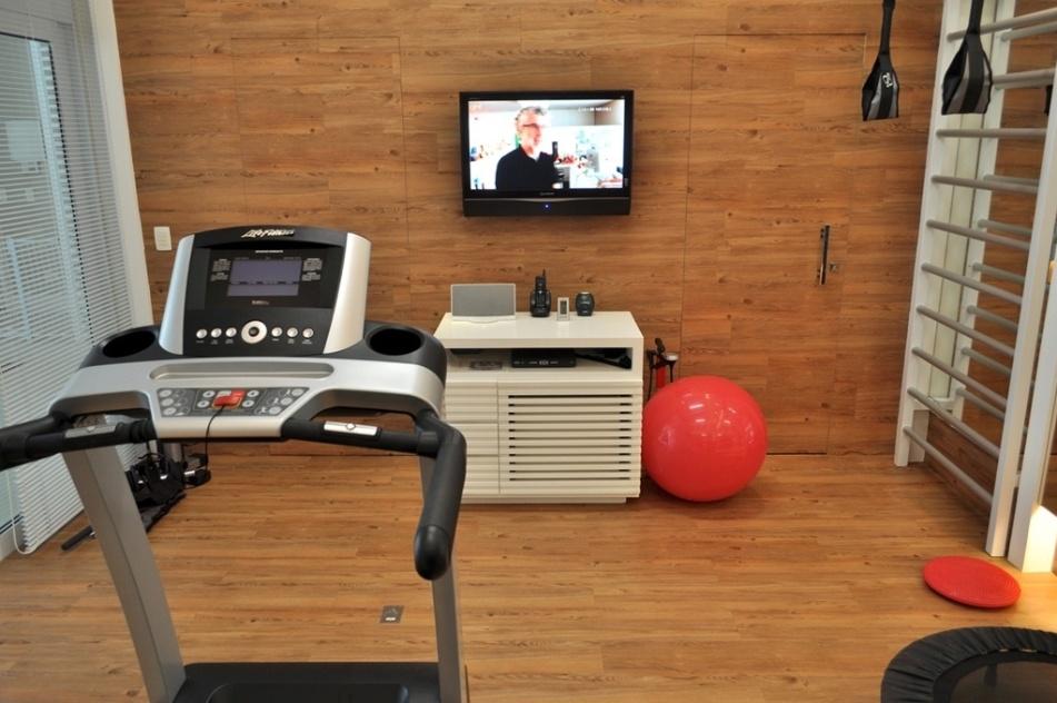 Academia em casa veja ideias para montar ambientes para - Vinilico para paredes ...