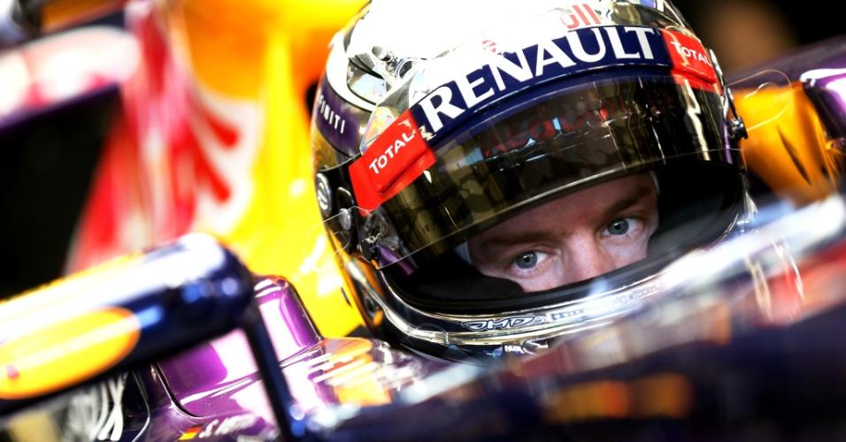 07.fev.2013 - Sebastian Vettel participa pela primeira vez de treinos no terceiro dia de testes em Jerez para a temporada 2013