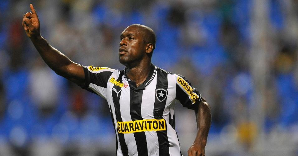 07.fev.2013 - Seedorf comemora gol do Botafogo contra o Resende no Campeonato Carioca