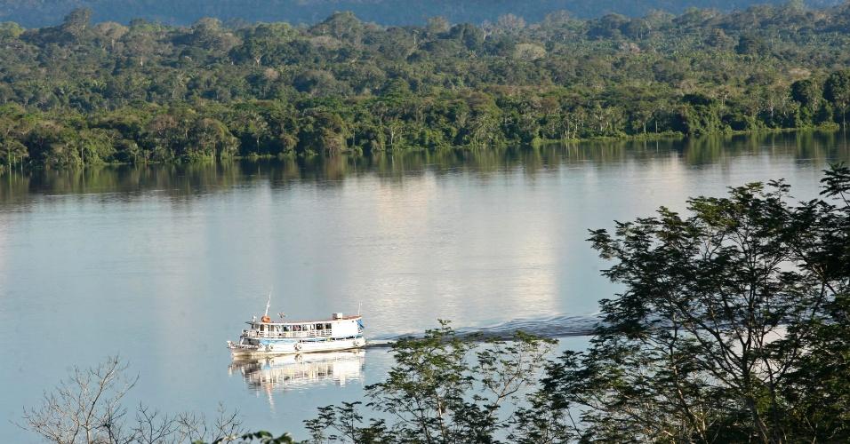 7.fev.2013 - O CO2 absorvido pela Amazônia atua como uma espécie de 'fertilizante' para suas árvores, ajudando no crescimento de galhos, folhas e raízes, revela estudo a Universidade de Exeter, na Inglaterra, publicado na revista Nature
