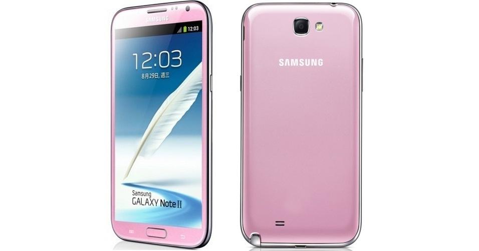 7.fev.2013 - O Galaxy Note II, da Samsung, ganhou mais opção de cor. Agora, o produto pode ser encontrado na cor rosa (em um tom que lembra muito o usado pela personagem Hello Kitty). O produto ainda não foi anunciado oficialmente, mas apareceu no site da empresa em Taiwan