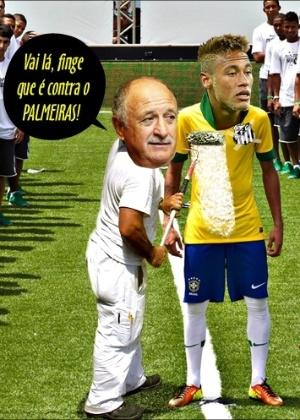 Corneta FC: Felipão pinta Neymar de santista e corneta Palmeiras