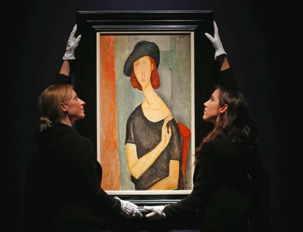 """""""Jeanne Hebuterne (de chapéu)"""", de Amedeo Modigliani, é leiloado pela Casa Christie"""