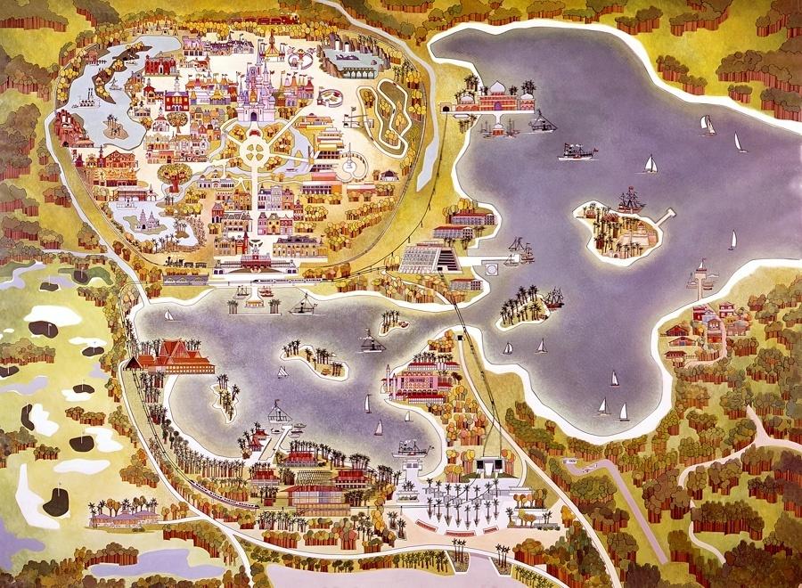 Fotos da Disney em Orlando Mapa da Wdw em Orlando