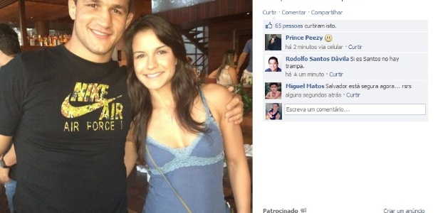 Musa do jiu-jtsu Kyra Gracie e ex-campeo do UFC Jnior Cigano se encontram no Carnaval de Salvador