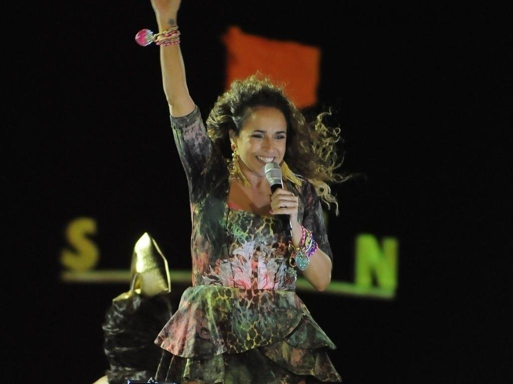10.fev.2013 - Daniela celebra um dos temas de seu Carnaval, o sexo
