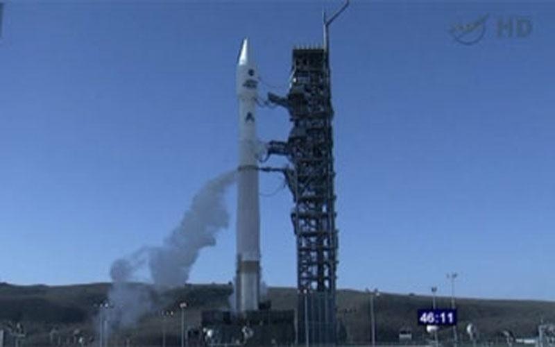 11.fev.2013 - Nasa (Agência Espacial Norte-Americana) lança o satélite LDCM, impulsionado pelo o foguete Atlas, para monitoramento da Terra. Este é o oitavo satélite da série Landsat, que começou em 1972