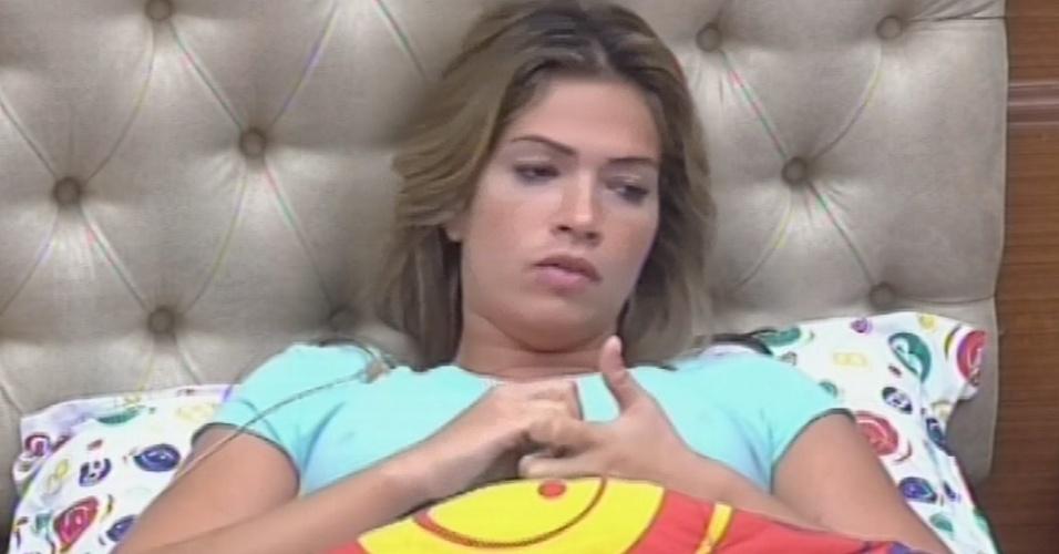 11.jan.2013 - Fani diz que pretende conversar com Kamilla sobre a postura dela na votação