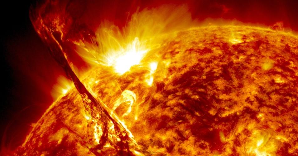 Erupção solar vista em 31 de agosto de 2012 pelo SDO