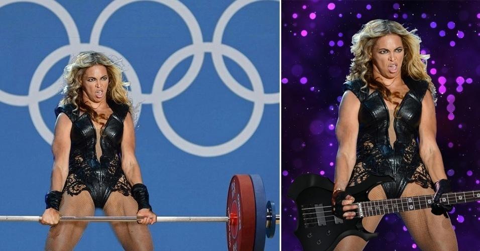 Montagens da Beyoncé durante o Super Bowl 2013