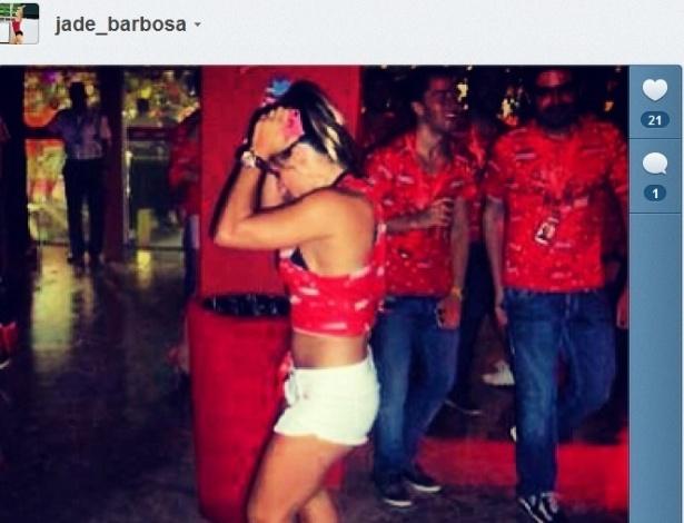 Jade Barbosa mostra o gingado durante o Carnaval