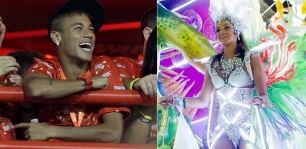 12.fev.2013 - Neymar e Bruna Marquezine confirmam namoro durante Carnaval no RJ